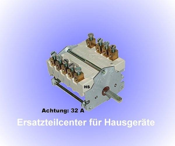 Backofenschalter Herdschalter 5 Takt Schalter 32 A EGO 4335232000 43.35232.000